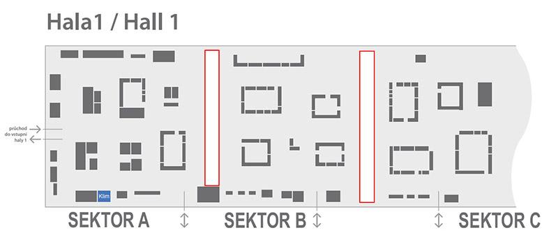 Plánek výstaviště