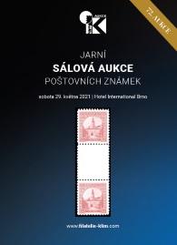 72. jarní aukce poštovních známek