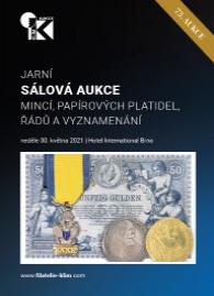 73. jarní aukce mincí, papírových platidel, řádů a vyznamenání