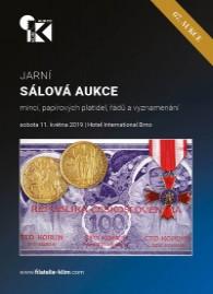 67. jarní aukce mincí, papírových platidel, řádů a vyznamenání