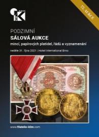 75. podzimní aukce papírových platidel, mincí, řádů a vyznamenání