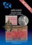 60. jarní aukce poštovních známek, papírových platidel, mincí, řádů a vyznamenání