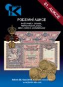 61. podzimní aukce poštovních známek, papírových platidel, mincí, řádů a vyznamenání