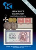 62. jarní aukce poštovních známek, papírových platidel, mincí, řádů a vyznamenání