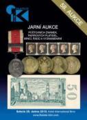 58. jarní aukce poštovních známek, papírových platidel, mincí, řádů a vyznamenání